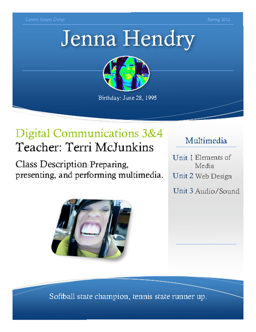 Jenna Hendry Digital Communications 3 Flipsnack