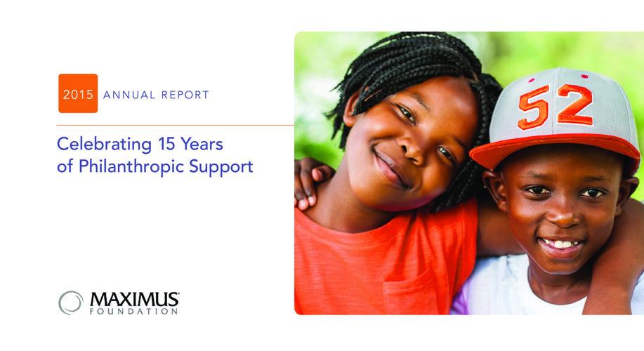 MAXIMUM Foundation Annual Report 2015