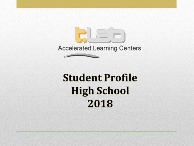 t.Lab Highschool Profile 2018
