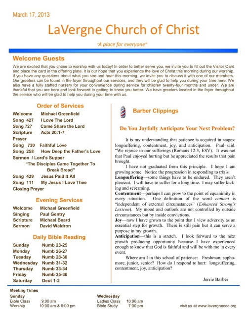 Weekly Bulletin Mobile