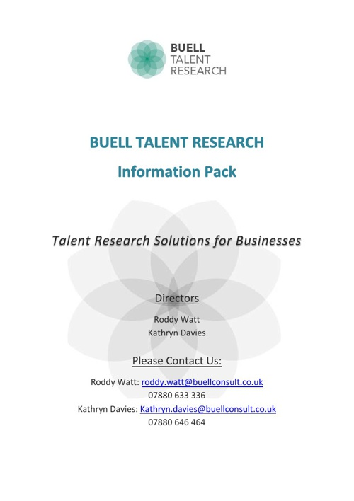Buell Talent Research Information Pack