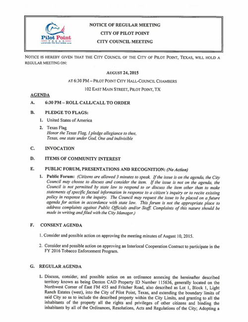 Updated August 24th Agenda Packet
