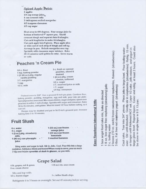 foods recipe book