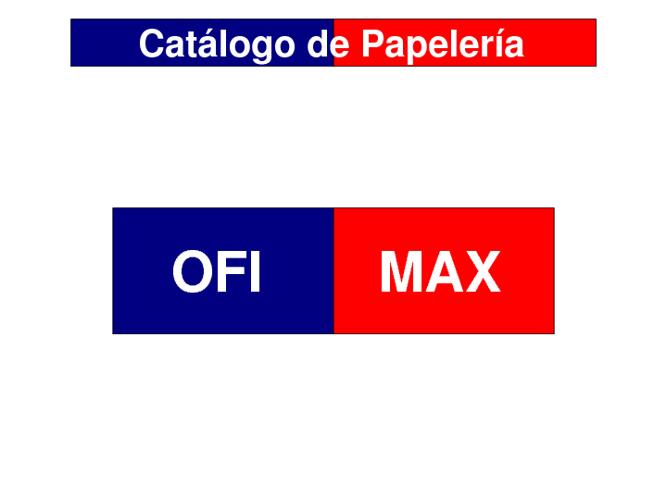 Catálogo de Papelería Ofimax