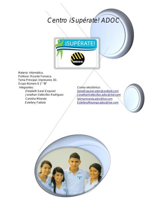 Reporte Impresoras 3D