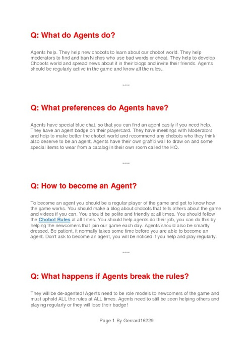 Becoming a agent