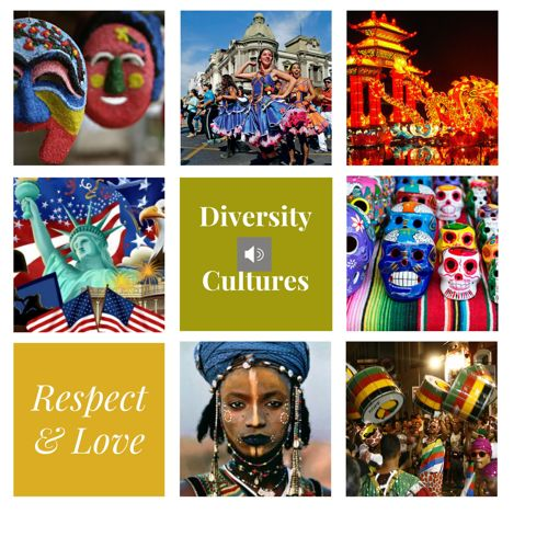 Diversity of cultures poster