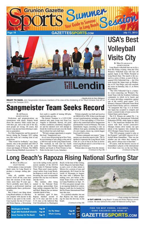 Gazette Sports | July 11, 2013