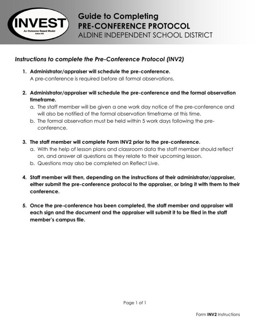 Pre and Post Conference Forms