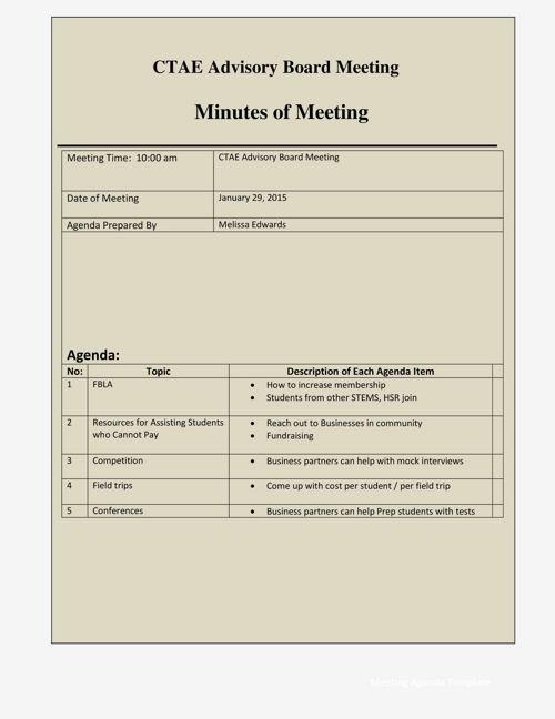 Copy of Advisor Board Minutes of Meeting 2015 16 school year