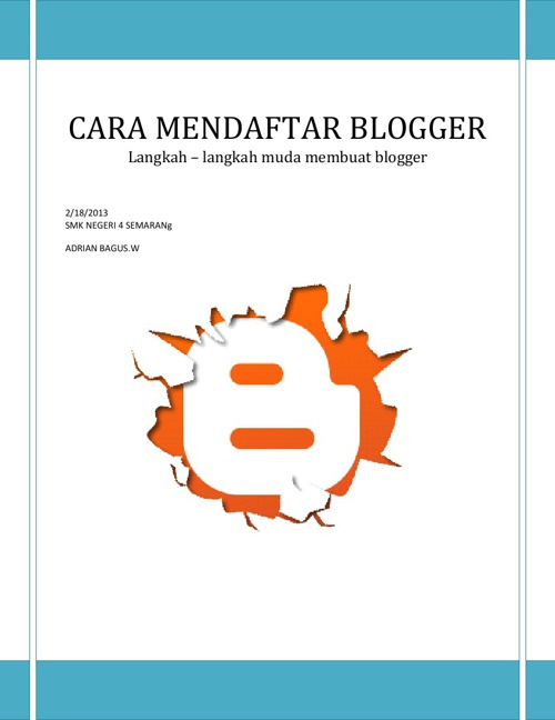 CARA MENDAFTAR BLOGGER
