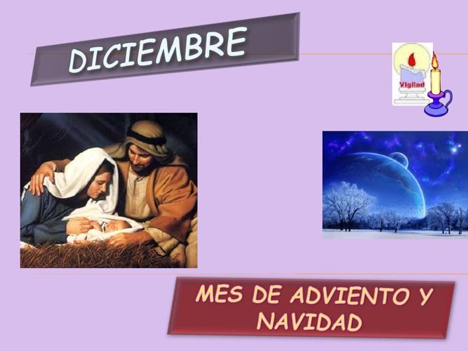 Oraciones de diciembre