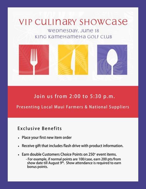 2014 VIP Culinary Showcase Catalog