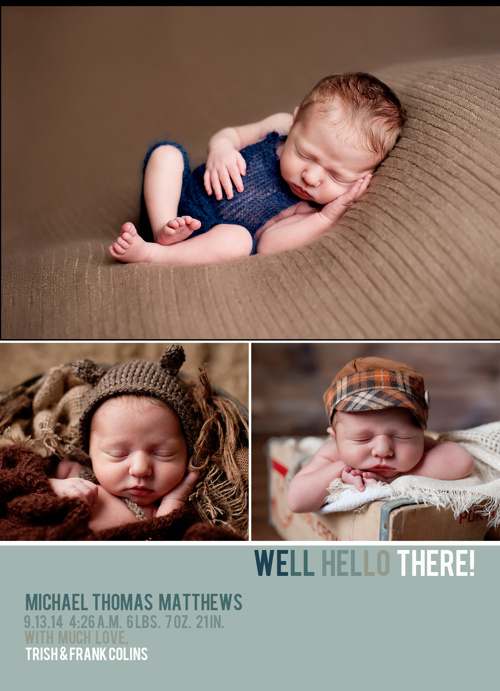 Baby Bare Photography Birth Announcement Samples