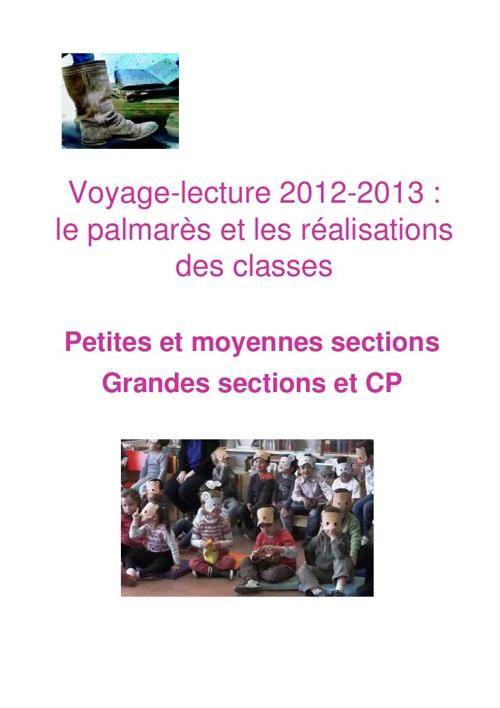 Voyage Lecture Les réalisations des classes - PSMS GSCP