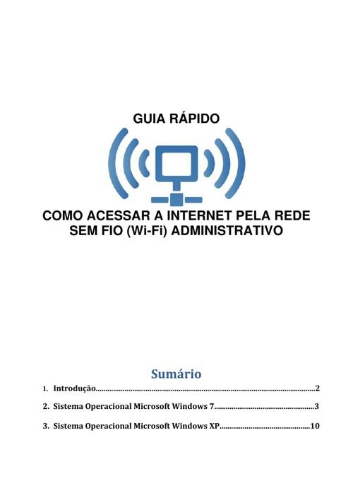 WI-FI administrativo para notebook Win7 e XP