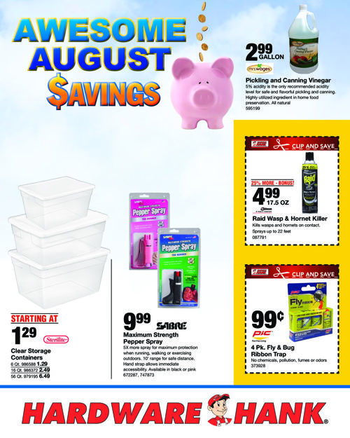 Shelby Paint and Hardware August 2016 Flyer