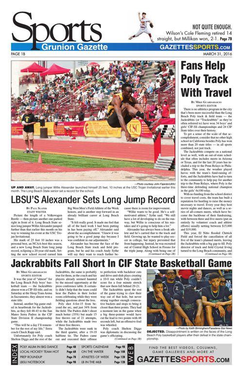 Gazette Sports | March 31, 2016