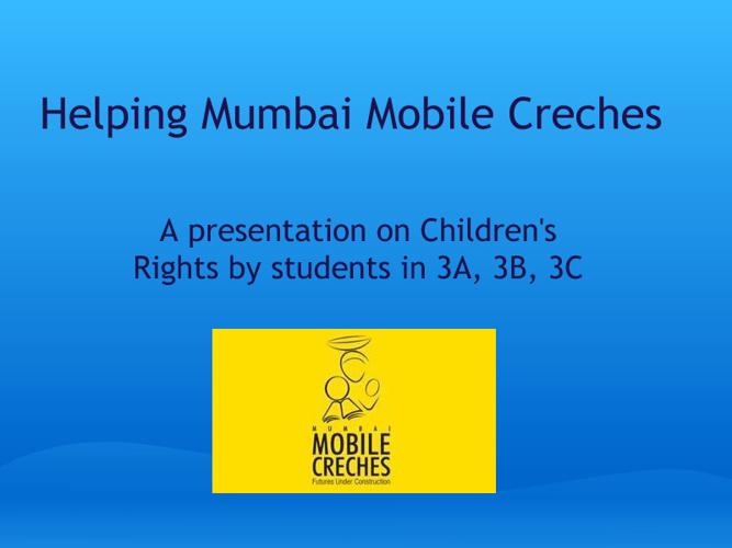 Mumbai Mobile Creche - American School of Bombay 3B