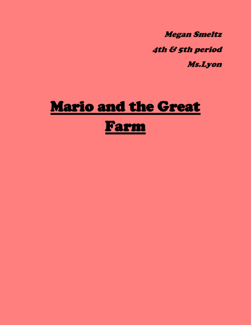 Mario and the Great Farm