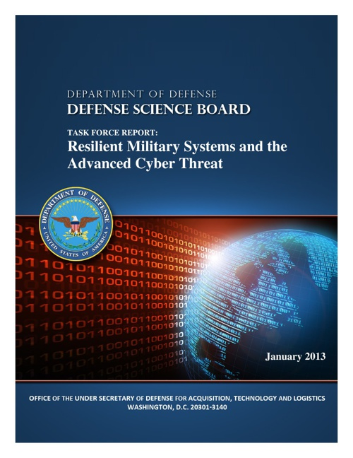 Resilient Military Systems Cyber Threat