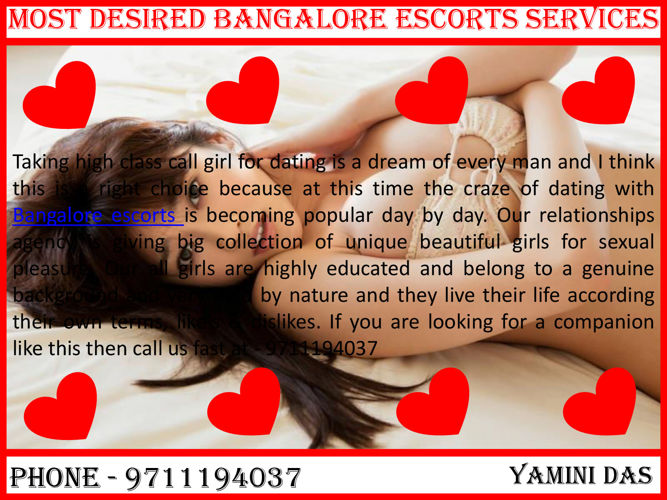 Most Desired Bangalore Escorts Services