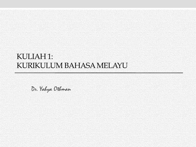 Kuliah 1_ análisis kurikulum BM