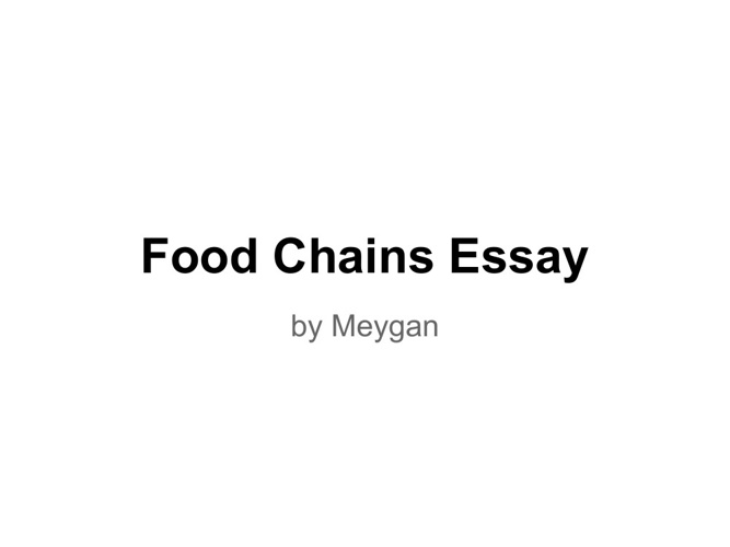 Food Chains Essay