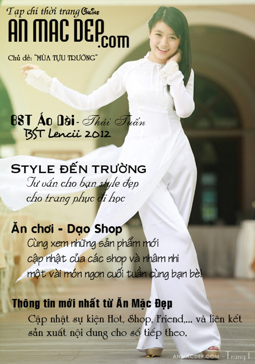 Tạp chí thời trang Ăn Mặc Đẹp - Số Mùa Tựu Trường