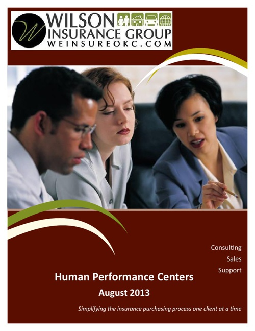 Human Performance Centers