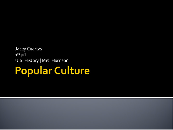 Popular Culture chp. 21