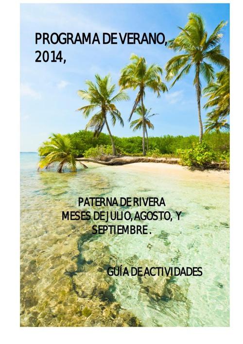 PROGRAMACIÓN DE ACTIVIDADES DE VERANO 2014