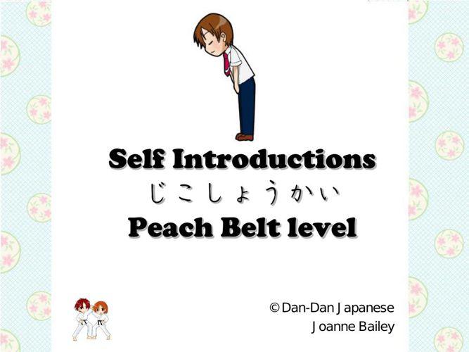 Self Introductions [Peach Belt] (C) DD