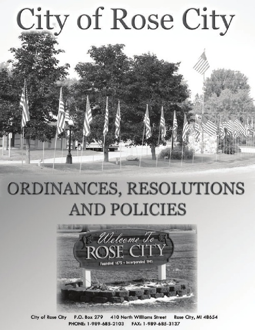 Copy of Rose City Hall Ordinances