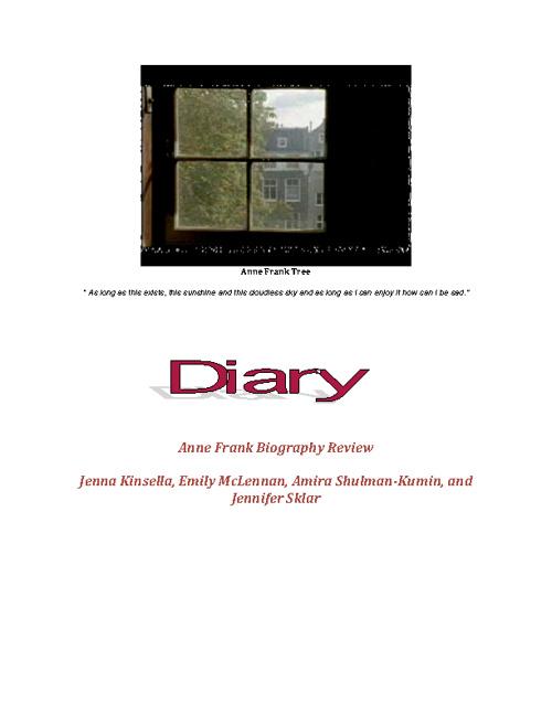 Anne Frank Biography Presentation