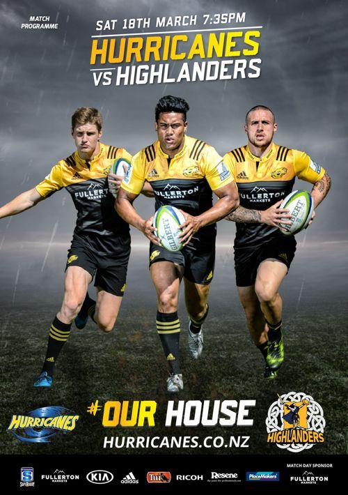 Hurricanes v Highlanders match programme