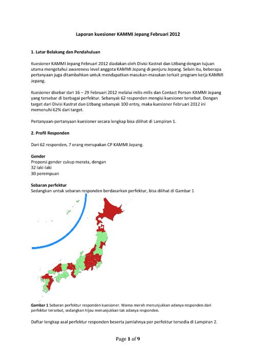 Survey Popularitas KAMMI Jepang