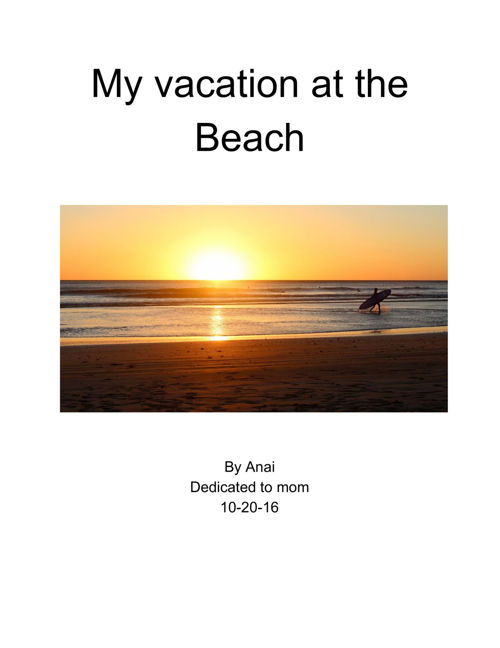 Vacation At The Beach
