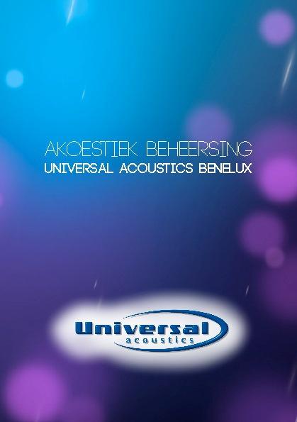 Universal Acoustics BeNeLux Product Folder