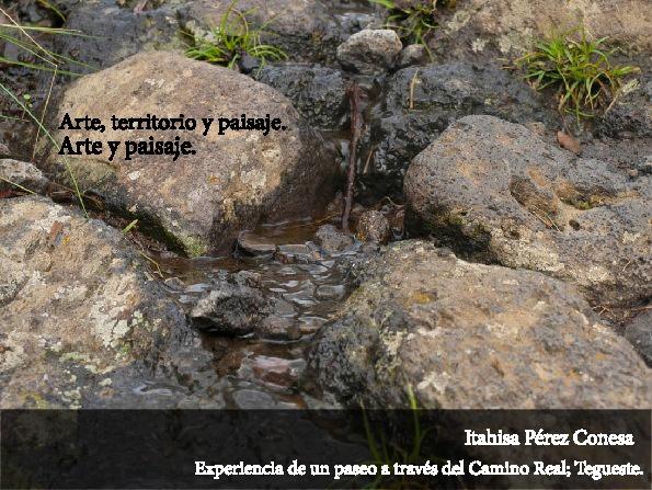 Reflexión-Fotografías Arteypaisaje. Itahisa Pérez Conesa.