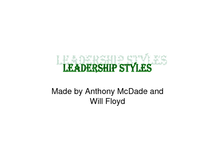Leadership Flipbook