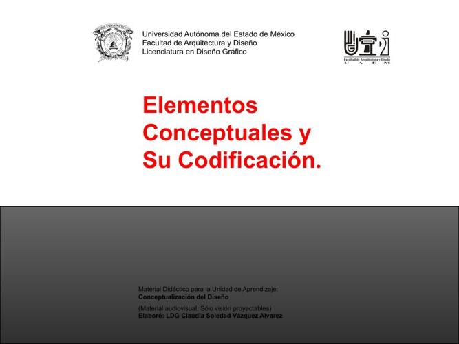 ELEMENTOS CONCEPTUALES Y SU CODIFICACIÓN