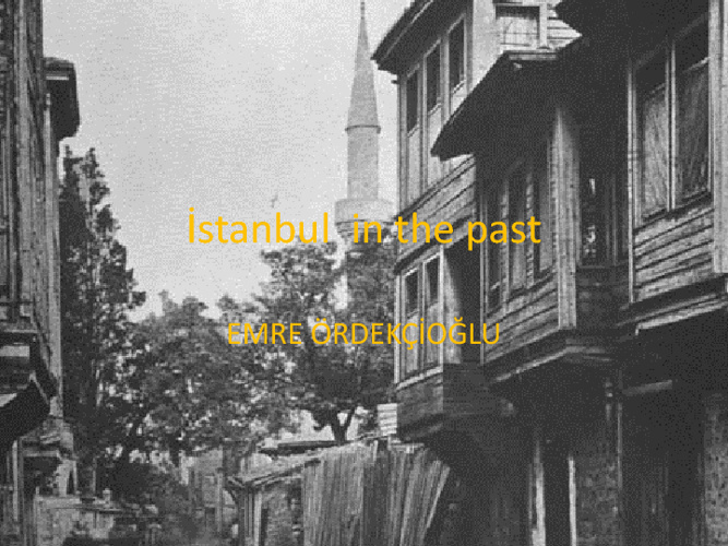 İstanbul in the past