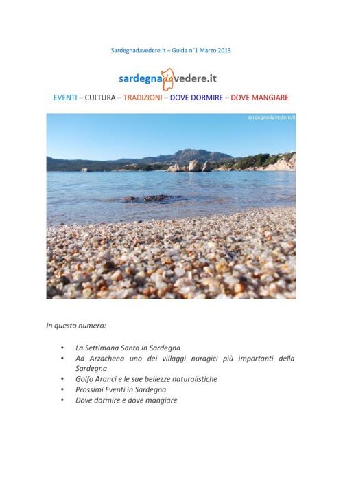 Guida Sardegna da Vedere n°1 marzo 2013