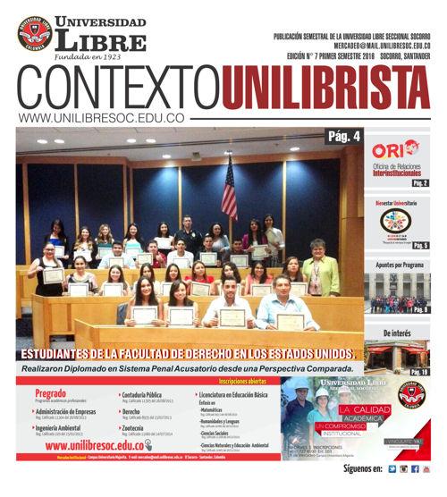 CONTEXTO UNILIBRISTA 2016-1