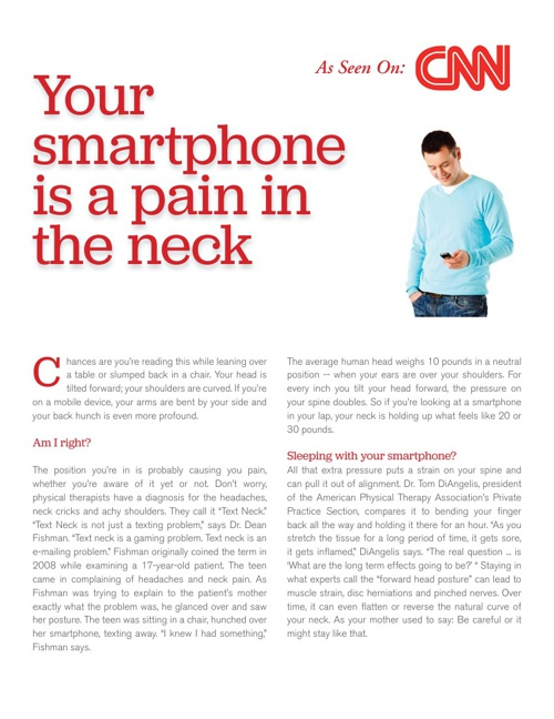 Your Smart Phone Is A Pain In The Neck