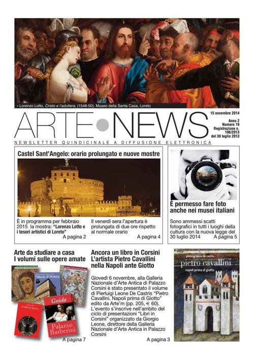 """""""Arte News"""" - 15 novembre 2014"""
