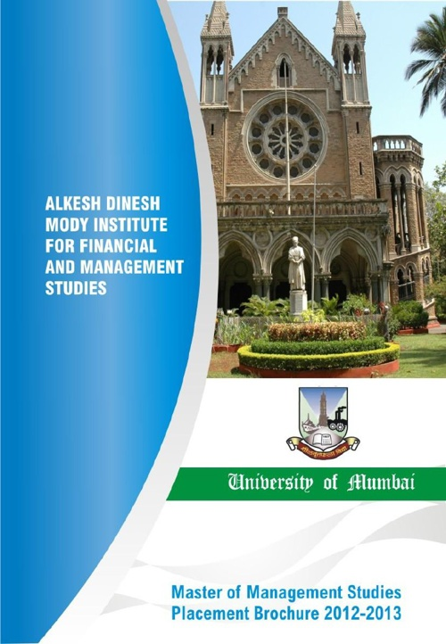 Alkesh Dinesh Mody Institute: Placement Brochure 2011-12