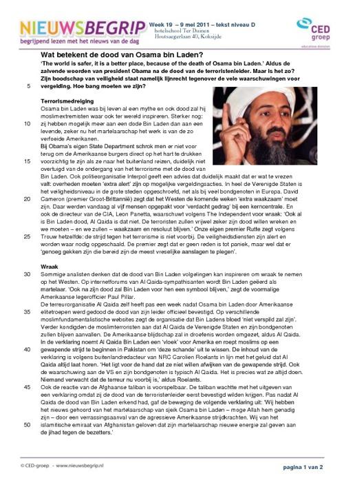 Osama - tekst/opdrachten