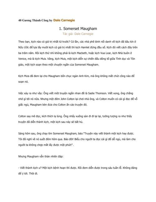 40 Gương Thành Công by Dale Carnegie